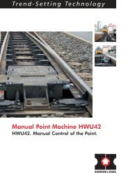 Trend-Setting Technology Manual Point Machine ... - Hanning & Kahl