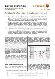 Fiskālā politika: uzlabojumi joprojām iespējami un ... - Swedbank