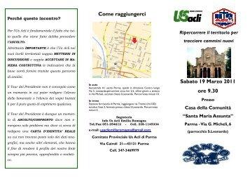 tour presidente ACLI - CONI, Emilia Romagna