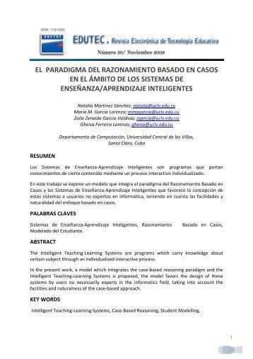 el paradigma del razonamiento basado en casos en el ámbito de ...