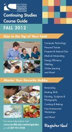 Non-Credit Course Guide Fall 2012 - Southern Maine Community ...