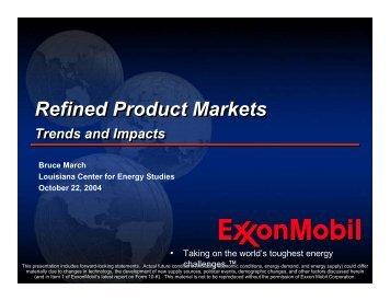 Refined Product Markets Refined Product Markets - Center for ...