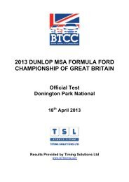 190413 Donington test - British Formula Ford