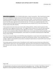 RAMBLER 100 CAPSIZE SAFETY REVIEW - Sail Magazine