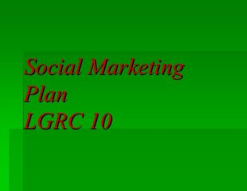 LGRC -R5 SOCIAL MARKETING PLAN - LGRC DILG 10