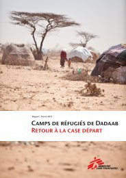 Rapport: Camps de réfugiés de Dadaab - Retour à la case départ