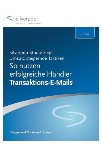 So nutzen erfolgreiche Händler Transaktions-E-Mails - Silverpop