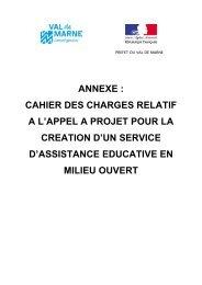 Le cahier des charges de l'appel à projet - Conseil général du Val ...