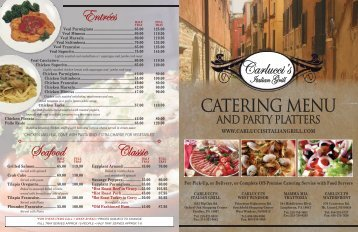 Catering Trays & Party Platters - Carlucci's Grill