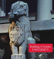 Building a Greater University brochure (pdf) - KU Endowment