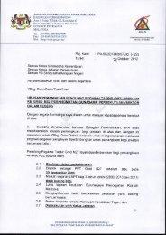 Surat Edaran: JPA.BK(S) 134/8/57 Jld. 5 (22)