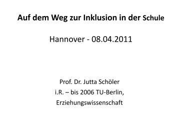 Eine Präsentation von Fr. Prof. Dr. Jutta Schöler (pdf-Datei, tagged)