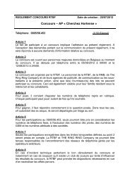 Concours – AP « Cherchez Hortense » - Rtbf