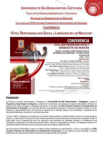 UNIVERSIDAD DE SAN BUENAVENTURA CARTAGENA ...