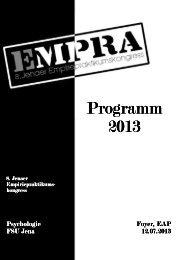 Programmheft 2013 - Friedrich-Schiller-Universität Jena