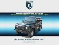 ARMORED LAND ROVER DEFENDER - Alpine Armoring Inc.