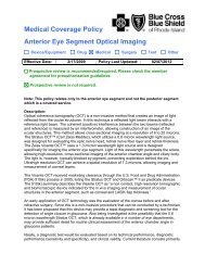 Medical Coverage Policy Anterior Eye Segment Optical Imaging