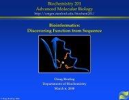Bioinformatics Slides - Cmgm Stanford