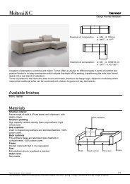 Turner Datasheet - Design Lounge by Hinke