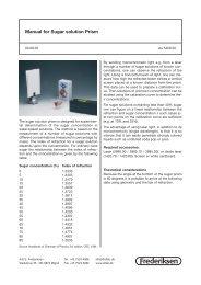 Manual for Sugar solution Prism - Frederiksen