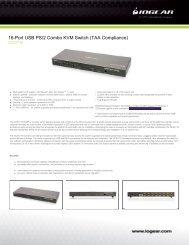 16-Port USB PS/2 Combo KVM Switch (TAA Compliance)