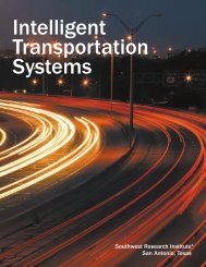 Intelligent Transportation Systems - Southwest Research Institute