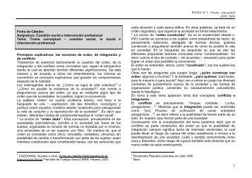 Ficha Trama Conceptual - Facultad de Trabajo Social
