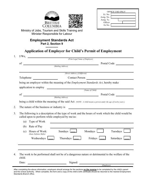 printable pdf version of this form - Jobs, Tourism and