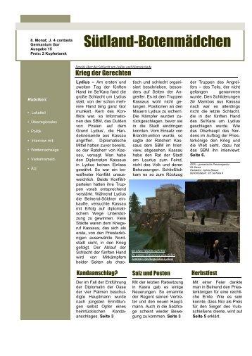 15. Ausgabe - Oase der Vier Palmen