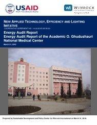 Energy Audit Report Energy Audit Report of the ... - Tkibuli Tea