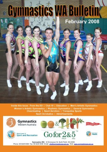 February 2008 Bulletin for web.pdf - Gymnastics Western Australia
