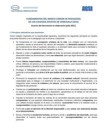 FUNDAMENTOS DEL MARCO COMÚN DE PEDAGOGÍA ... - Cerpe
