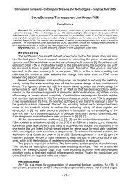 V.1. Elena Fomina, State Encoding Technique for Low Power ... - Ecet