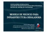 modelo de negocio para infraestructura desaladora - Coordinación ...