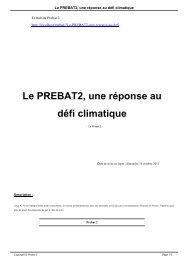 Le PREBAT2, une réponse au défi climatique
