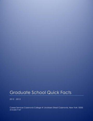 Graduate School Quick Facts - Cazenovia College