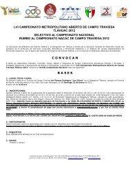lvi campeonato metropolitano abierto de campo traviesa tláhuac ...