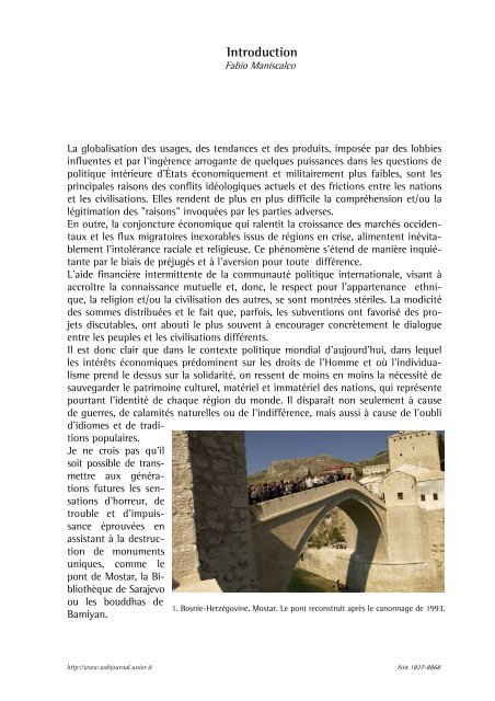 Introduction - web journal - Università degli studi di Napoli L'Orientale