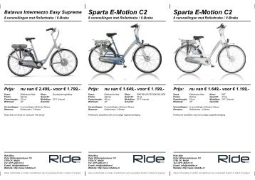 Sparta E-Motion C2 - Ride Bike