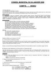 conseil municipal du 04 janvier 2008 compte - rendu - Istres