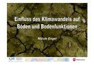 Vortrag 6: Einfluss des Klimawandels auf Böden und Bodenfunktionen