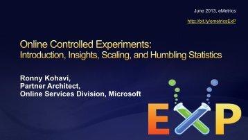 2009-06-08 ExP Intro - Exp Platform