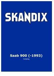 SKANDIX Catalog: Saab 900 (-1993)
