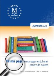 Broșură Admitere 2013 - Facultatea de Management