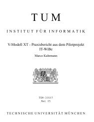 V-Modell XT - Software and Systems Engineering - TUM