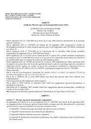 ARRÊTÉ relatif aux Mesures agro environnementales - L'Europe s ...