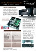 Newsletter Vincent SV-232 Amplificateur intégré transistoré - Page 2