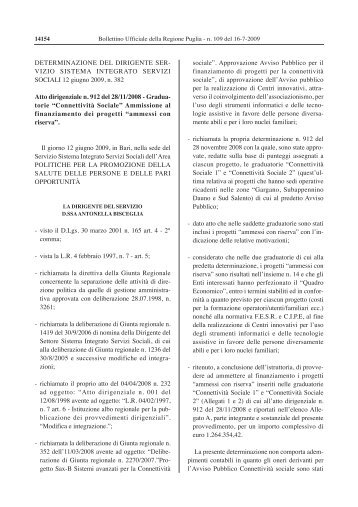 I progetti ammessi 1 - Osservatorio Foggia
