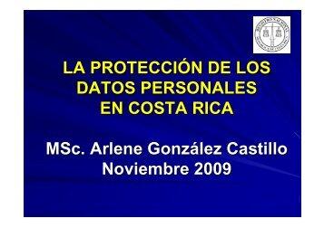 Dña Arlene González. Jefa Asesoría Jurídica del Registro Nacional ...