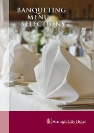 Functions Brochure - Armagh City Hotel